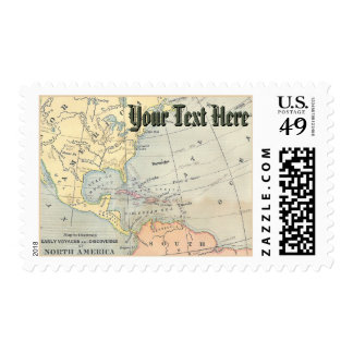 Franqueo del mapa del vintage timbre postal