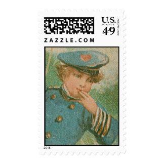 Franqueo del marinero de la tarjeta del día de San Estampilla
