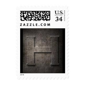 Franqueo del monograma H del metal Sellos