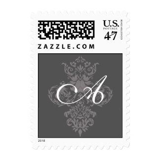 franqueo del monograma sellos postales
