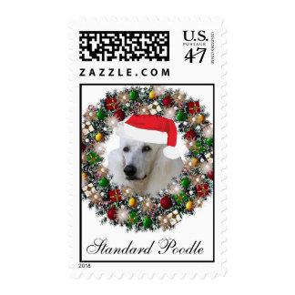 Franqueo del navidad - caniche estándar timbres postales