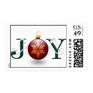 """Franqueo del navidad de la """"alegría"""" estampilla"""