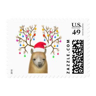Franqueo del navidad de la alpaca timbre postal