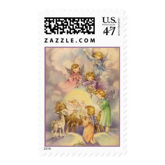 Franqueo del navidad de los ángeles timbre postal