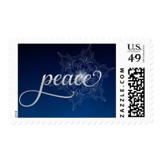 Franqueo del navidad del copo de nieve de la paz