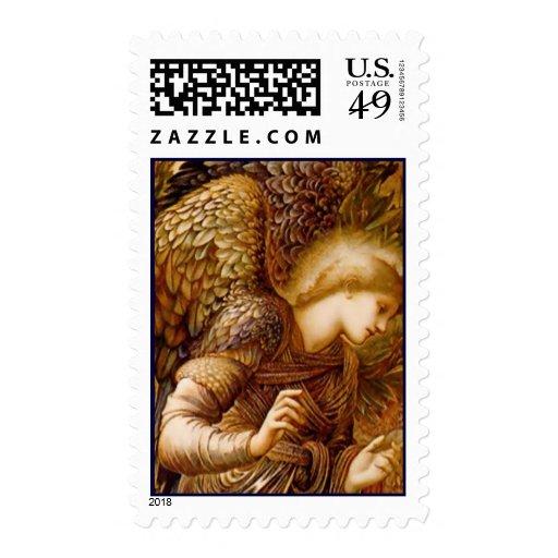 Franqueo del navidad del Pre-Raphaelite del ángel Estampillas