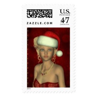 Franqueo del navidad del retrato del duende del sello