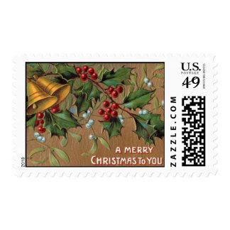 Franqueo del navidad del vintage sello