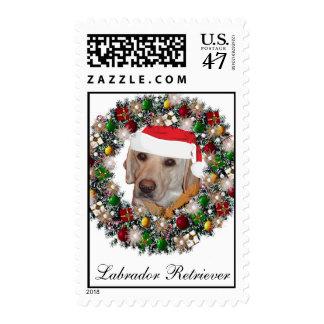 Franqueo del navidad - labrador retriever sello