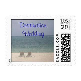 franqueo del océano de la playa del boda del desti