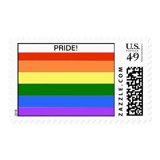 Franqueo del orgullo gay y tarjetas a juego