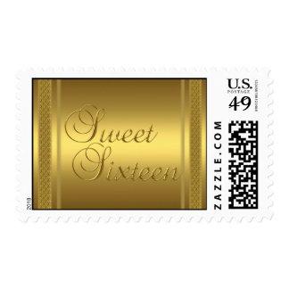 Franqueo del oro del dulce 16