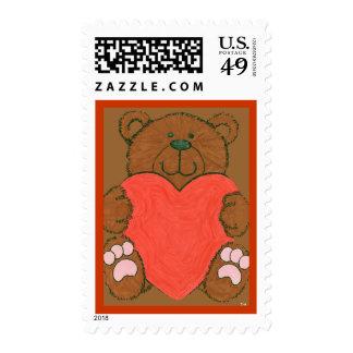Franqueo del oso de la tarjeta del día de San Vale