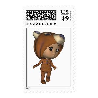 Franqueo del oso del Critter del bebé de Kawaii
