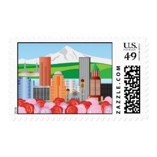 Franqueo del paisaje urbano de Portland Oregon