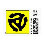 Franqueo del parte movible del expediente de 45 timbres postales
