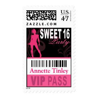 Franqueo del paso del VIP del dulce 16 (blanco Timbres Postales