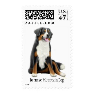 Franqueo del perro de montaña de Bernese Sellos
