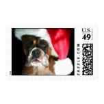 Franqueo del perro del boxeador del navidad sello postal