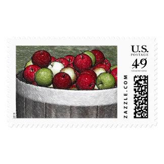 Franqueo del personalizado de la cesta de Apple