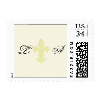 Franqueo del personalizado de la flor de lis sellos