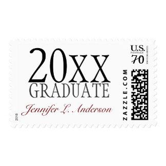 Franqueo del personalizado del año y del nombre de sellos