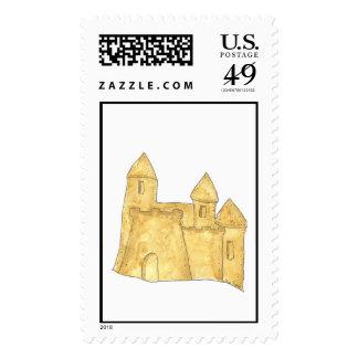 Franqueo del personalizado del castillo de la aren estampillas