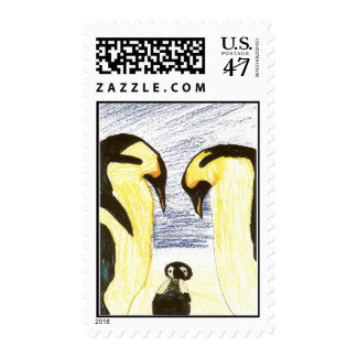 Franqueo del pingüino del dibujo de Childs Sello