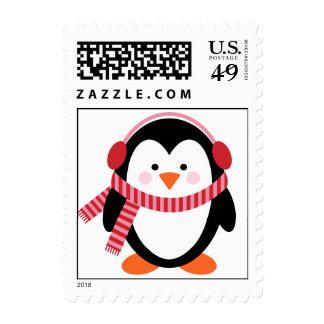 Franqueo del pingüino del invierno