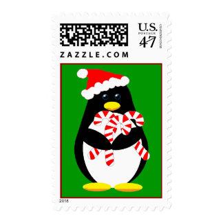 Franqueo del pingüino del navidad sello postal