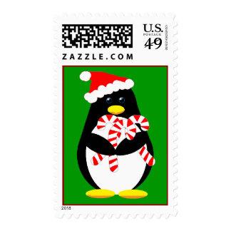 Franqueo del pingüino del navidad