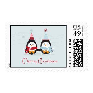 Franqueo del pingüino del navidad timbres postales