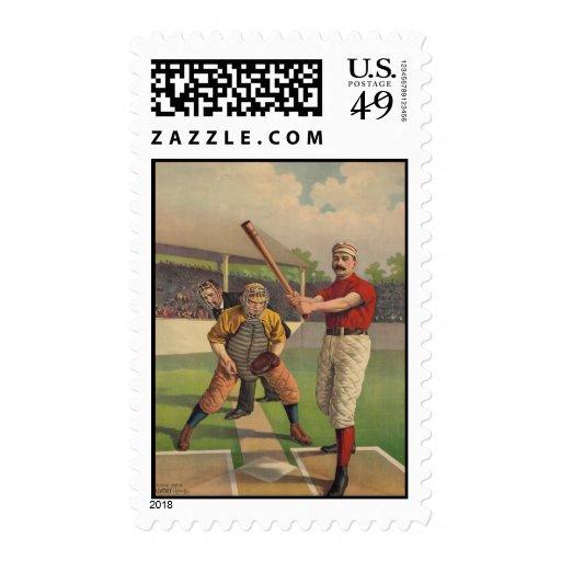 Franqueo del poster del béisbol del vintage