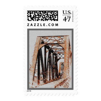 Franqueo del puente timbres postales