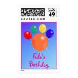 Franqueo del ramo del globo de Birthday_Paw-shaped