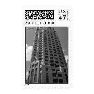 """Franqueo del """"rascacielos"""" timbres postales"""