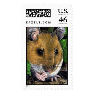 Franqueo del ratón de madera