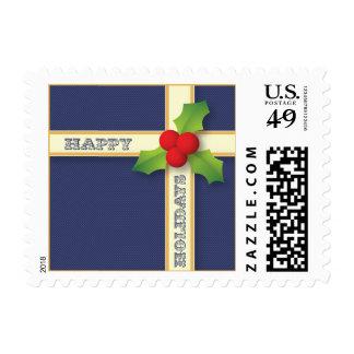 Franqueo del regalo del navidad buenas fiestas sello postal