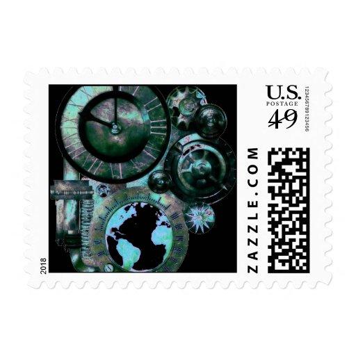 Franqueo del reloj 1 de Steampunk