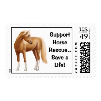 Franqueo del rescate del caballo de la ayuda timbre postal