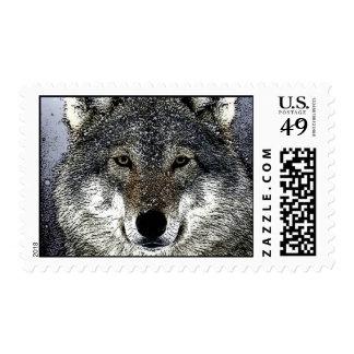 Franqueo del retrato del lobo timbres postales