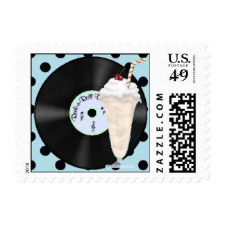 franqueo del rock-and-roll 50s sello postal