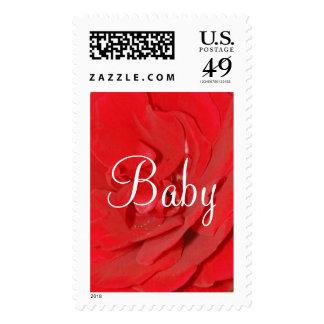 Franqueo del rosa rojo del bebé - personalizable