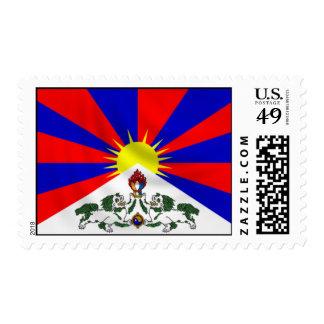 Franqueo del sello de Tíbet