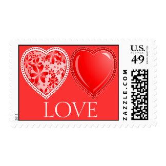 Franqueo del sello del amor
