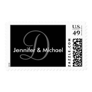 Franqueo del sello del boda del monograma D