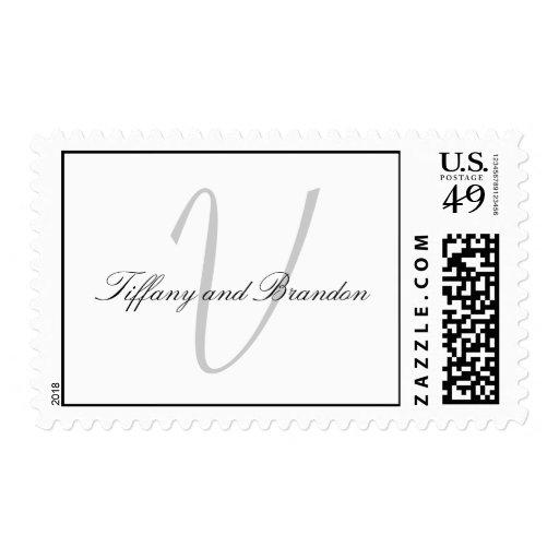 Franqueo del sello del monograma que se casa V