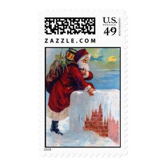 Franqueo del sello del navidad de Papá Noel del vi