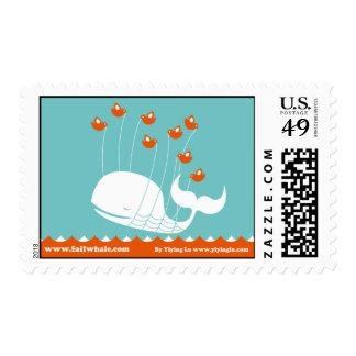 Franqueo del snail mail de la ballena del fall sello postal