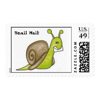 Franqueo del snail mail estampilla